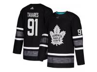 Men's Toronto Maple Leafs #91 John Tavares Adidas Black Authentic 2019 All-Star NHL Jersey