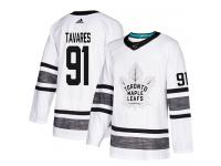 Men's Toronto Maple Leafs #91 John Tavares Adidas White Authentic 2019 All-Star NHL Jersey