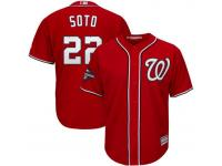 Men's Washington Nationals Juan Soto Majestic Red 2019 World Series Champions White Jersey
