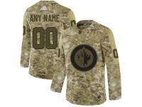 Men's Winnipeg Jets Adidas Customized Limited 2019 Camo Salute to Service Jersey
