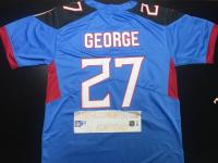 Nike #27 Eddie George Limited Light Blue Jersey Custom (Any Name and Number)