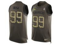 Nike Men NFL San Diego Chargers #99 Joey Bosa Olive Salute To Service Tank Top