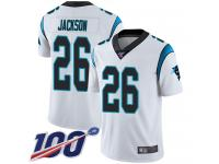Nike Panthers #26 Donte Jackson White Men's Stitched NFL 100th Season Vapor Limited Jersey