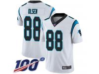 Nike Panthers #88 Greg Olsen White Men's Stitched NFL 100th Season Vapor Limited Jersey